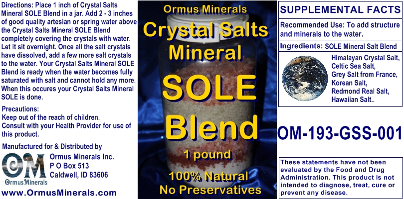 Crystal Salts Mineral Sole Blend