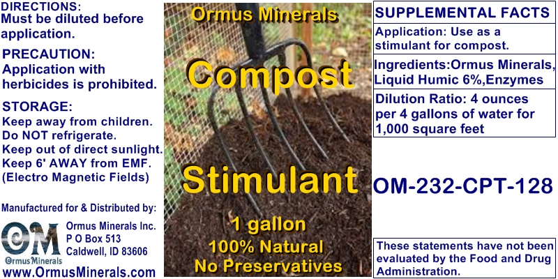 Ormus Minerals Compost Stimulant Concentrate