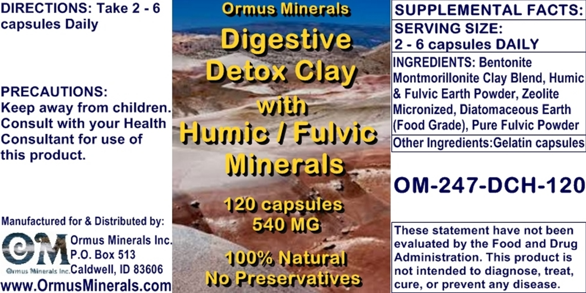 Ormus Minerals Digestive Detox Clay with Humic-Fulvic Minerals