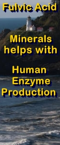 Ormus Minerals Fulvic Acid Minerals - helps with human Enzyme Production