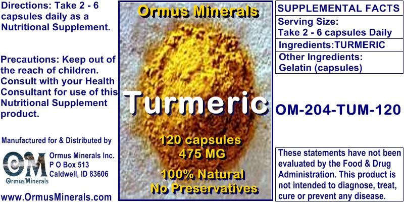 Ormus Minerals Turmeric